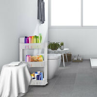 Slim Slide Out Storage Kitchen Pull Out Cart Trolley Shelf Narrow Places Rack