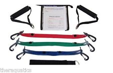 Dura-Band Portable Rehab Exercise Band Kit Exercise Handles L-M-H Thick W-DRB3BK