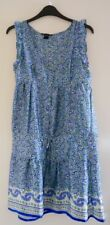 MANGO mix BLUE DRESS sizeUK6, deep v-neck,SLEEVELESS, wedding party prom summer
