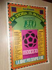 FASCICOLO LA STORIA NEL PALLONE SESSANT´ANNI DI MONDIALI LA STAMPA 1970 BRASILE