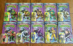 TMNT ReAction Figure Lot of 10 Super7 Teenage Mutant Ninja Turtles Raphael BeBop