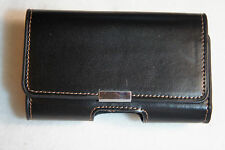 AGF AG-A-0368 Universal Premium Leather Pouch/Sleeve - Matte Black