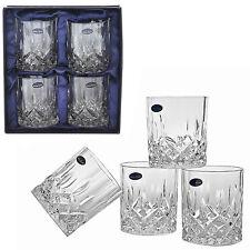 Whiskey Glasses Set of 4 Crystal Drinking Scotch Bourbon Liquor Glass Bar Cups