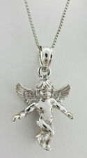 ANGEL GUARD PENDANT & BOX CHAIN NECKLACE 14K GOLD *New with Tag *FREE Shipping