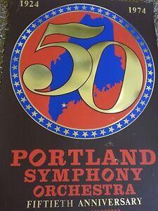 1974 Robert Indiana Portland original poster 50th Anniversary Mixed Media
