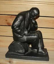 Vintage hand made Russian Socialist realism metal statuette Vladimir Lenin