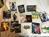 Lot of 100+ Loose Manuals, Games & DVDs for Repair Resurfacing Xbox 360 PS2 Wii