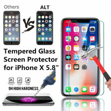 6x Premium Real Tempered Glass Film Screen Protector For Apple iPhone X  US Ship