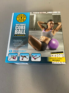 """Golds Gym 9"""" Diameter Anti Burst Core Ball for Strengthening Core & Flexibility"""