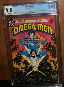 CGC 9.8 Omega Men # 3. First Appearance of Lobo, White Pages. 1983 HOT Key book