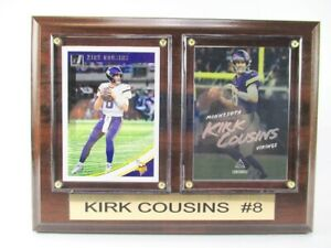 Kirk Cousins Minnesota Vikings Wood Wall Picture 7 7/8in, Plaque NFL Football