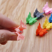 20PCS Girls Mini Hair Claws Multi Colors Butterfly Shape Hair Clips Hair Clamps