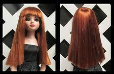 Doll Wig, Ellowyne Jane 7 1/4 in Double Red (READ description) Factory Sample