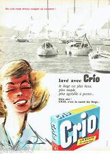 PUBLICITE ADVERTISING 066  1958  la lessive Crio