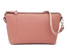SWISS Luxury brand BALLY Leather Shoulder Bag in pink with bit grey  MSRP $675