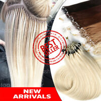 "THICK EASY MICRO LOOP RING BEADS 20"" 22"" REAL HUMAN REMY HAIR EXTENSIONS US P362"