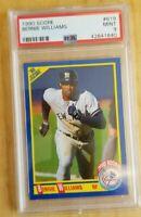 1990 Score #619 Bernie Williams Rookie Card RC Graded PSA 9 Mint Yankees
