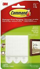 3M Command Picture Frame Hanging Adhesive Stick on Strips Damage Free