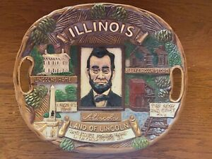 ABRAHAM LINCOLN RESIN PLAQUE highlighting his time in Illinois