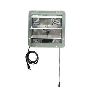 772 CFM Silver Electric Powered Gable Mount Shutter Fan/Vent Greater Durability