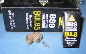 Box of 10 AGS AB-889 27W Halogen Bulbs Lamp Single Beam Fog Light - NEW