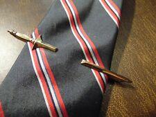 "UNIQUE vintage 1/20 12kt gold filled Sword Tie Clasp pin 3 1/2"""