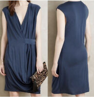 HD In Paris Womens Size Small Blue Brynn Wrap Dress Anthropologie