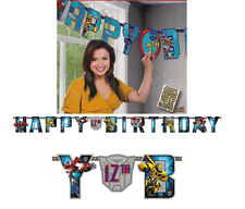 TRANSFORMERS BIRTHDAY PARTY SUPPLIES JUMBO 3.5M ADD-AN-AGE LETTER BANNER KIT BOY