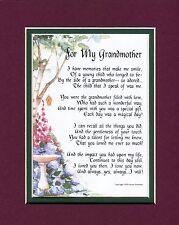 #37 Gift present keepsake poem for a grandmother 50th 60 70th 80th birthday