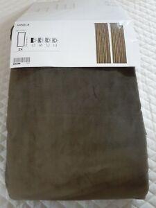 "Ikea SANELA Velvet Curtains 2 Panels Dark Green 55"" x 98"" New"