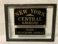 NEW YORK CENTRAL RAILROAD RR RAILWAY TELEGRAPH OFFICE TICKET ANTIQUE OLD WINDOW