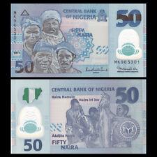Nigeria 50 Naira, 2011, P-40c, Polymer, UNC