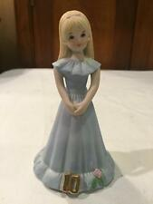Enesco 1981 Growing Up Birthday Girls Age 10 Blonde Figurine