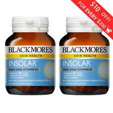 2 x Blackmores Skin Health Insolar High Dose Vitamin B3 60 Tablets FREE SHIPPING