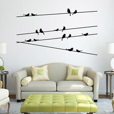 Wall stickers Wall Decal Removable Art Black Bird Tree Branch Home Mural New