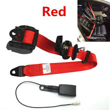 3 Point Car SUV Seat Belt Lap&Diagonal Belt Iron Plate Style With Warning Cable