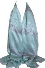 Écharpes et châles bleus en polyester à motif À Pois pour femme