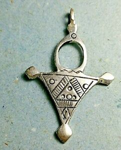 Rare Ancient Perfect Silvered Pendant Amulet Suspension Viking 1-5TH Century AD
