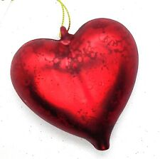 6 x A072 NEW Red Heart Mercury Glass Ball Bauble Christmas Tree Ornament