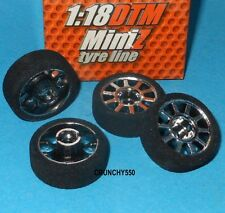 Mini-Z Sponge Tire Wheel Set (4) 1:18 DTM GRP Gandini GLX12B Vintage RC Part