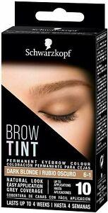 NEW & BOXED - Schwarzkopf Brow Tint Kit Eyebrow Dye - Dark Blonde