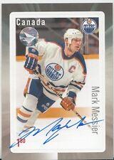 2016 NHL Canada Post Hockey Stamp/ Card AUTO Mark Messier AUTO COA Hologram