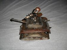 Metal and Stone Sculpture - Military Ant in a Tank