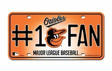 Baltimore Orioles #1 Fan License Plate [NEW] MLB Tag Auto Truck Metal Car
