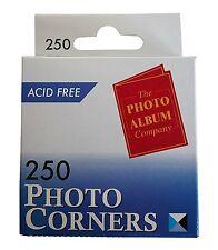 Photo Corners 250 Transparent Acid Free Same Day Dispatch  1003