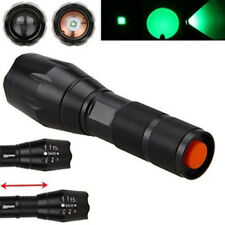 A100 Zoomable CREE LED Verde Linterna caza un modo 18650/AAA Coyote