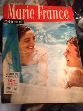 Rare Marie France magazine Numéro 6 1956 -  Marie José Neuville J Claude Darnal