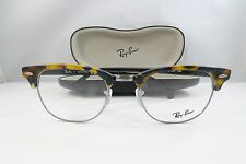 Ray-Ban RB 5154 5492 Clubmaster Blue Havana New Authentic Eyeglasses 51mm w/Case