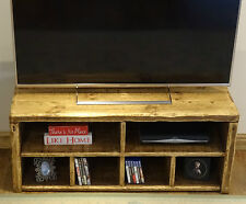 RUSTIC SECTIONAL TV UNIT  - HAND MADE TO ANY SIZE - SOLID WOOD