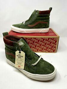 Vans SK8-Hi MTE Leather Deep Lichen Green / brown Shoes men's us Size 10